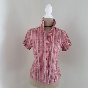 Christopher & Banks Striped Button Down Shirt